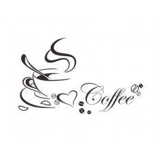 "Sticker bucatarie ""I love coffe"", 40 x 65 cm"