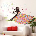 Sticker decorativ camera copii - zana cu baloane si fluturi