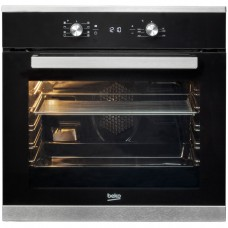 Beko BIM25300XM Cuptor incorporabil, Electric, 8 functii, 71 l, Gatire 3D, Display LED, Catalitic, Sticla neagra/Inox