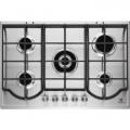 Plita incorporabila Electrolux EGH7353BOX, Gaz, 5 arzatoare, 75 cm, Gratare fonta, Inox