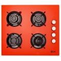 Plita incorporabila LDK YD640RE40T, Gaz, 4 arzatoare, Aprindere electrica, Siguranta, 3 ani garantie, 60 cm, Portocaliu