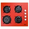 Plita incorporabila LDK YD640VE40T, Wok, Gaz, 4 arzatoare, Aprindere electrica, Siguranta, 3 ani garantie, 60 cm, Portocaliu