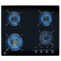 Plita incorporabila Teka HF LUX 60 4G AI AL BLACK, 4 arzatoare, sticla neagra