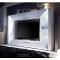 Mobila living ADGE, Alb lucios, 226x163x40 cm
