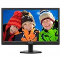 "Monitor LED Philips 243V5LSB, 23.6"" Wide, Full HD, DVI, Negru"